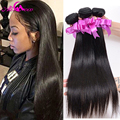 7A Brazilian Virgin Hair Straight 100% Unprocessed Human Hair 3 Bundle Deals Virgin Brazilian Straight Hair Extension Weaves