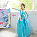 2015 snow queen elsa dress baby girls Cosplay Dress Costume princess anna Dress Kids clothes Halloween Christmas dress for child