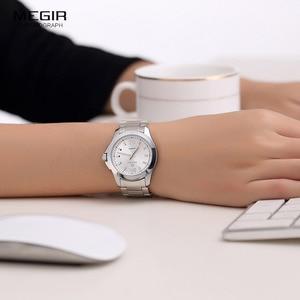 Image 5 - Women Couple Dress Wrist Watches Steel Simple Relogios Feminino Clock Woman Montre Femme Quartz Ladies Watch for Lovers MS5006L