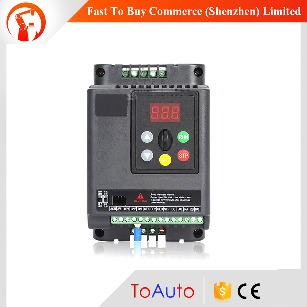 VFD 11KW 15HP 3phase Frequency Inverter Output 380V Speed Control 500Hz Motor Drive VFD for Lathe