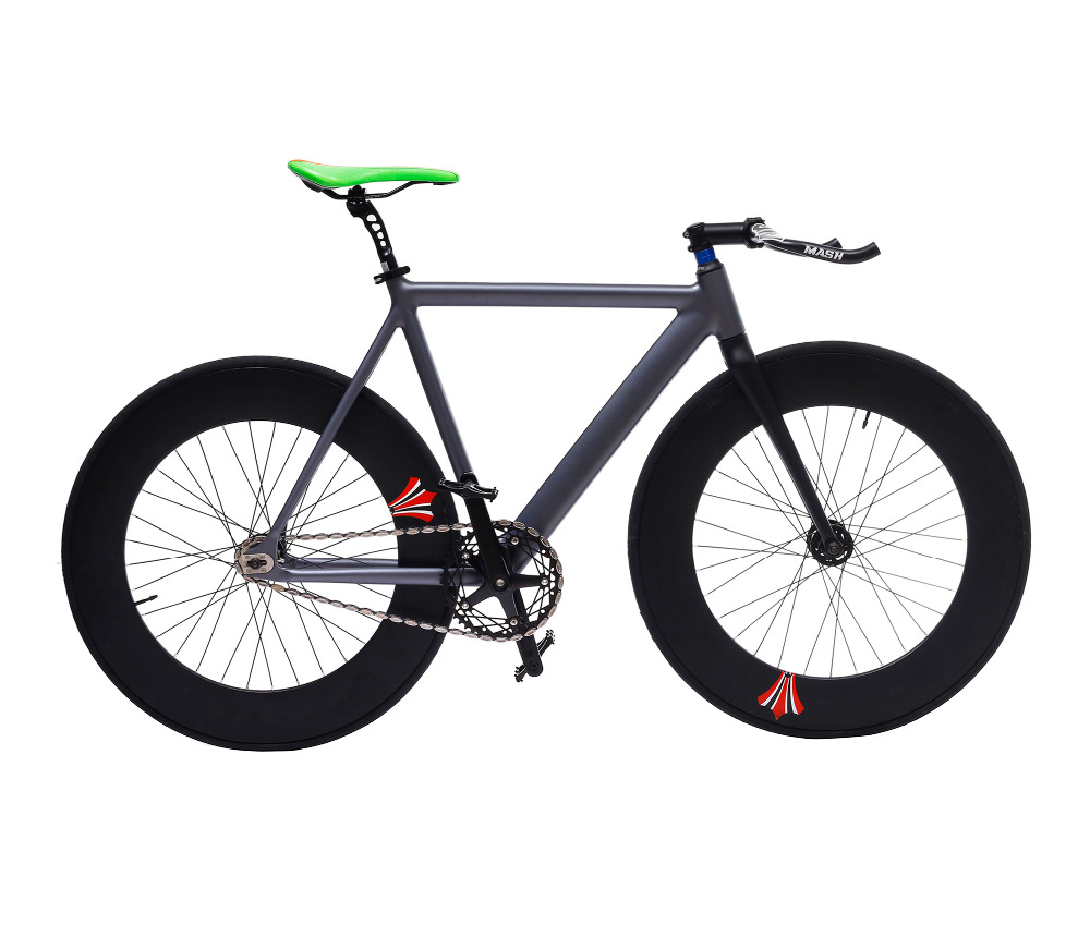 Fixed Gear Bike 54cm single speed bike Smooth Welding frame DIY color Aluminum alloy Customize Track <font><b>Bicycle</b></font> <font><b>700C</b></font> <font><b>wheel</b></font> image