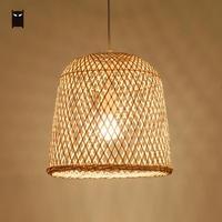 31x30 см Bamboo плетеная из ротанга колокол подвесной светильник стране китайской Азиатский подвесной потолочный светильник обеденный стол рес