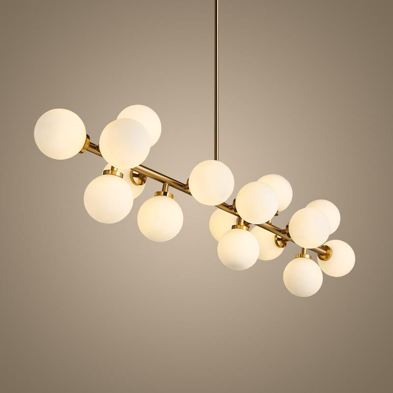 Nordic Pendant Lights Glass Lampshade G4 Lustre Led Lamp Art Deco