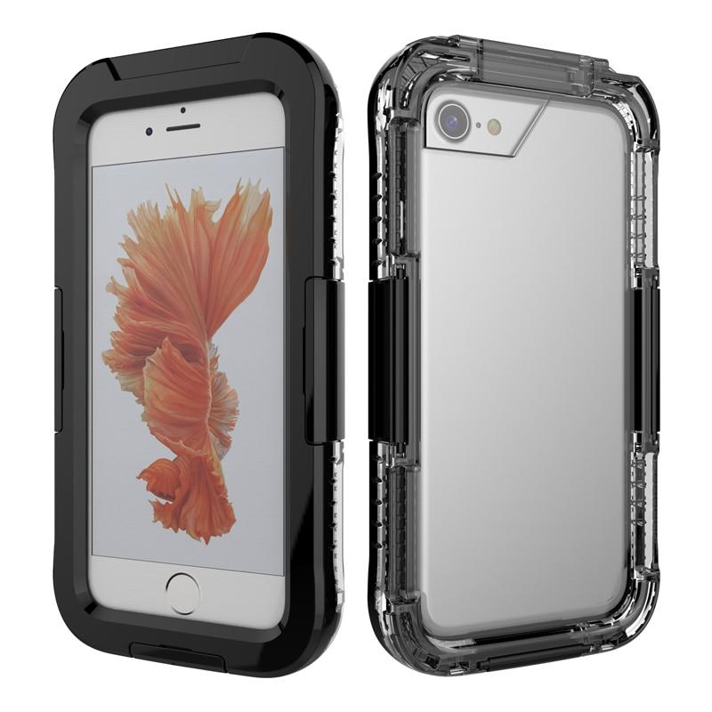 IP68 5M simning fodral för iPhone 7 vattentätt etui akryl dykning - Reservdelar och tillbehör för mobiltelefoner - Foto 2