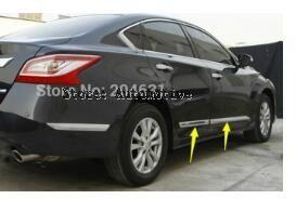 De alta qualidade decoração porta lateral do corpo molding trims 4 pcs para Nissan Teana Altima 2013 2014 2015
