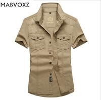 Men Shirt Brand Nian AFS Jeep Plus Size Loose New 2015 Short Sleeve 100 Cotton Mens