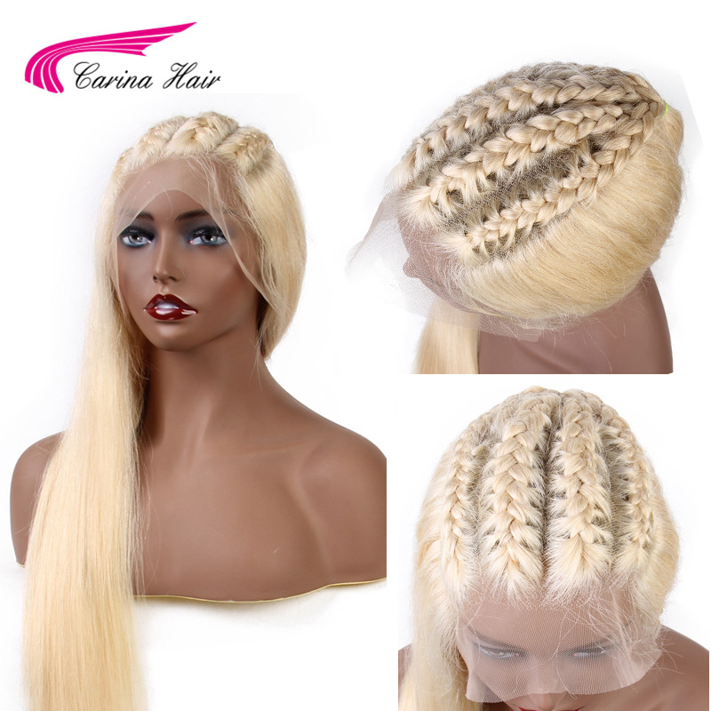 Carina 13x6 Frontal Lace Wig Remy Hair 613 Blonde Lace Front Wig Brazilian Straight Human Hair 13x6 Wigs Pre Plucked