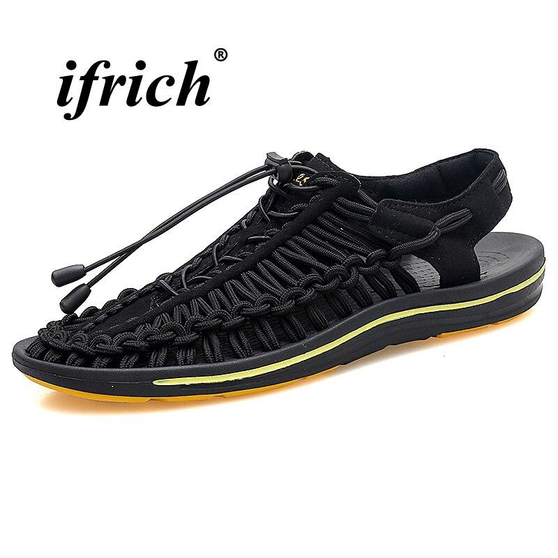 Новые летние туфли на плоской подошве для Для мужчин Летние полуботинки свет Уличная обувь коричневый зеленый дышащие сандалии противоско...