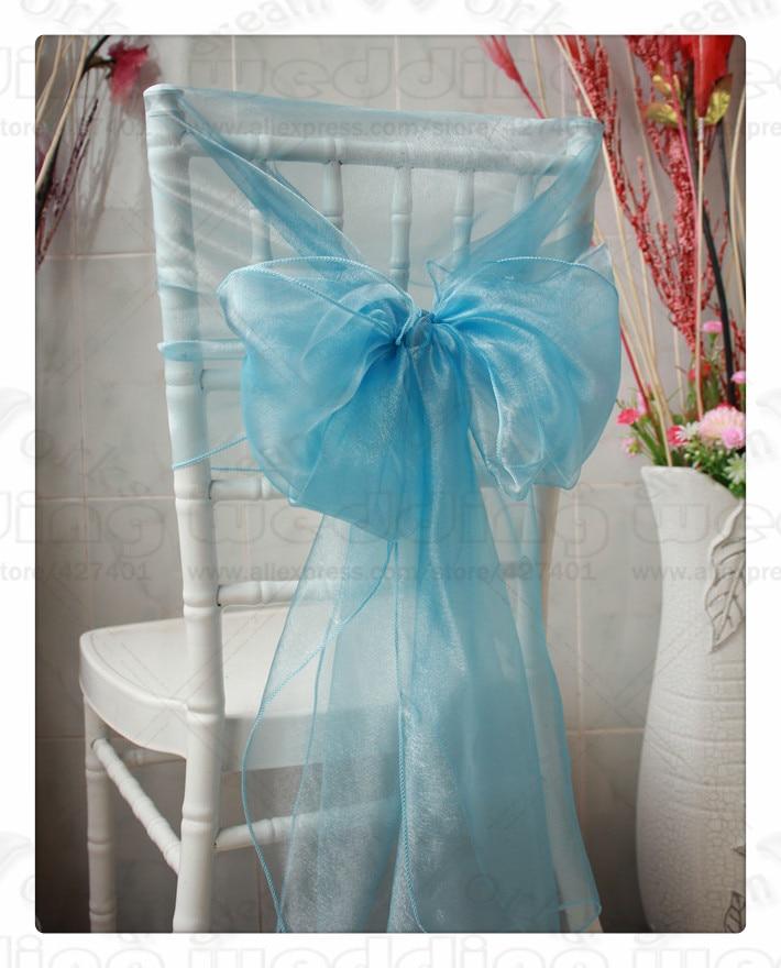 61 Color--3/3 50x200CM 100PCS Organza Chair Hoods/Caps/Chair Cover Sash For Wedding Event&Party&Home&Banquet Decoration Textile