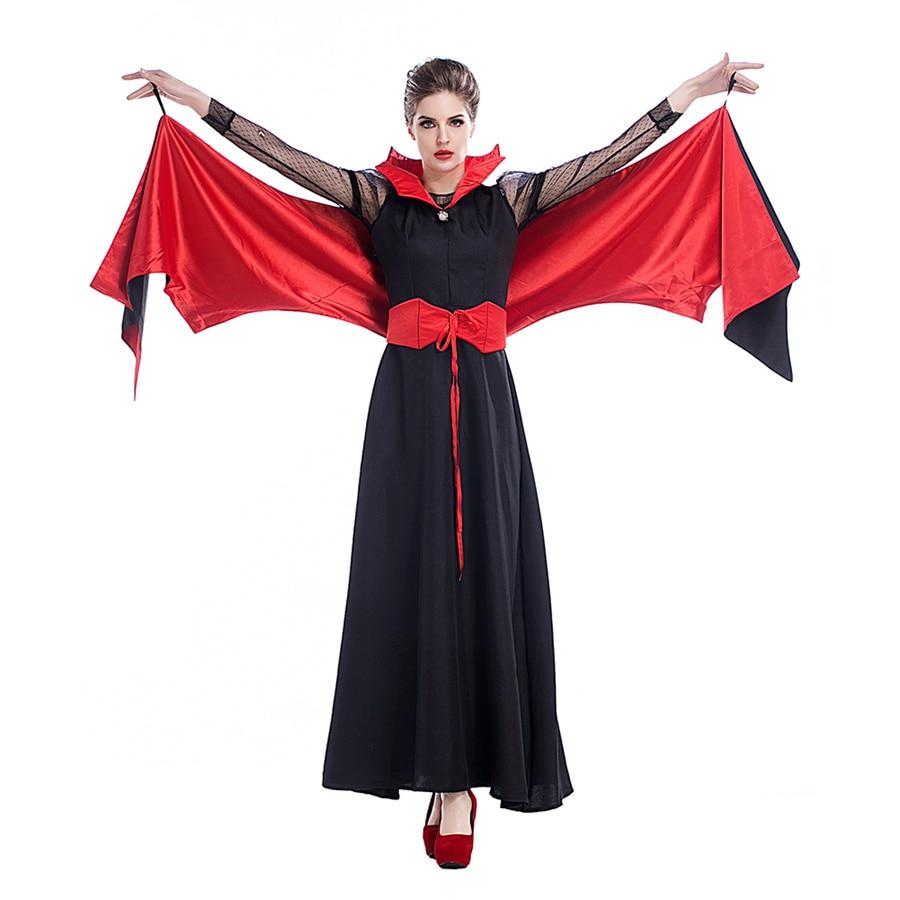 Damen Halloween Kostüm Königin Kleider Vampire Maskerade Bat Cosplay ...
