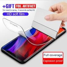Película macia protetora completa do hidrogel no para xiao mi 8 se pro a1 a2 lite filme de tela para o vermelho mi 5a 5 plus 6a 6 pro não vidro