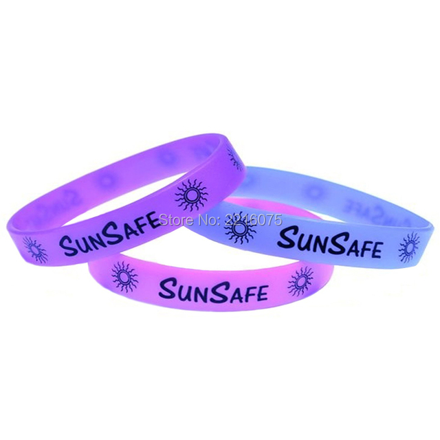 300pcs Sunsafe Color Changing Uv Silicone Wristband Rubber Bracelets Free Shipping By Dhl Express