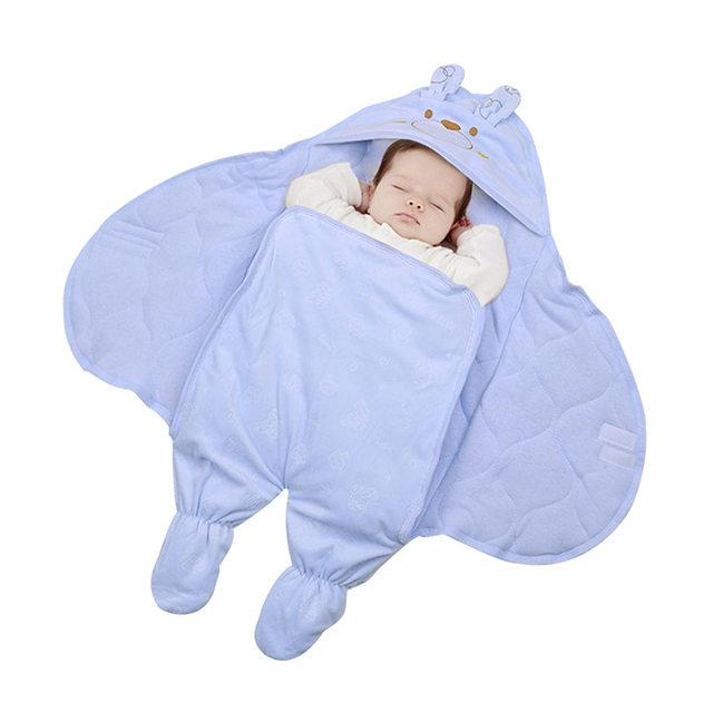 Baby Sleep Sack Winter Sleeping Bag Indoor Outdoor Cotton Stroller With Sleeves Sleepsacks