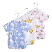 Unisex Baby Onesies Cartoon Japanese Cute Style Short Climb Summer Thin Section Covered Button Girl Boy HF3006