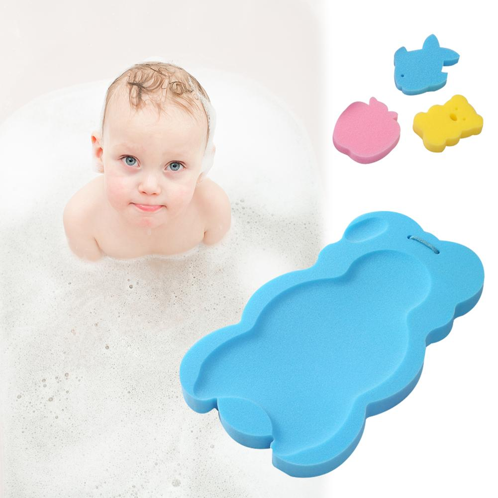 Baby Bath Holder Non slip Bed Infant Shower Sponge Cushion Cartoon ...