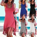 Women Summer Style Beach Dress Casual Sleeveless Vestidos Vest Tanks Bandage Female Women Dress Strap Solid Party Mini Dresses