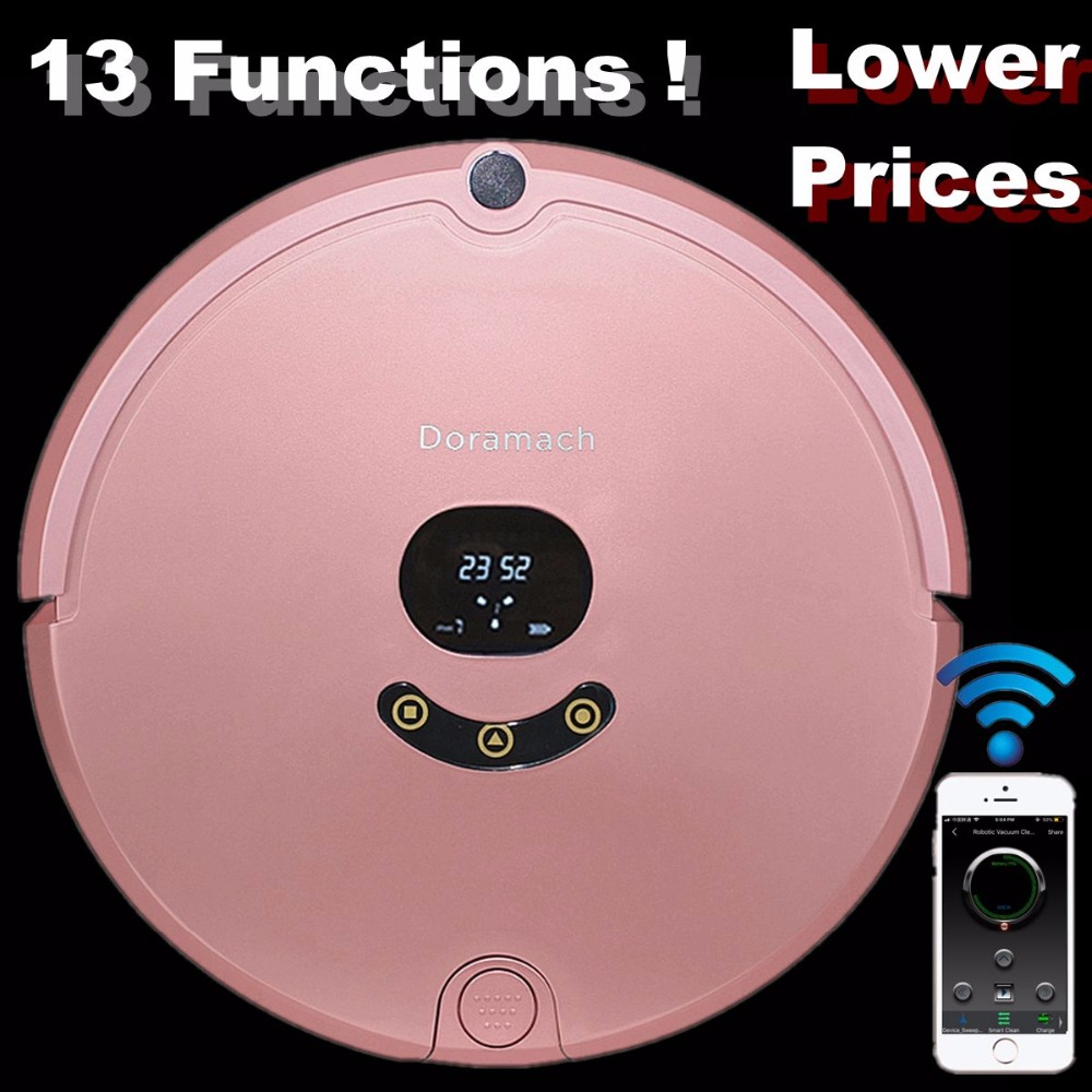 Robot Vacuum Cleaner with Self-Charge Wet Mopping 1200 PA for Thin Carpet Wood Floor Wi-Fi Connectivity Doramach FRV8 hot original 2 in 1 v7s pro robot vacuum cleaner with self charge wet mopping for wood floor