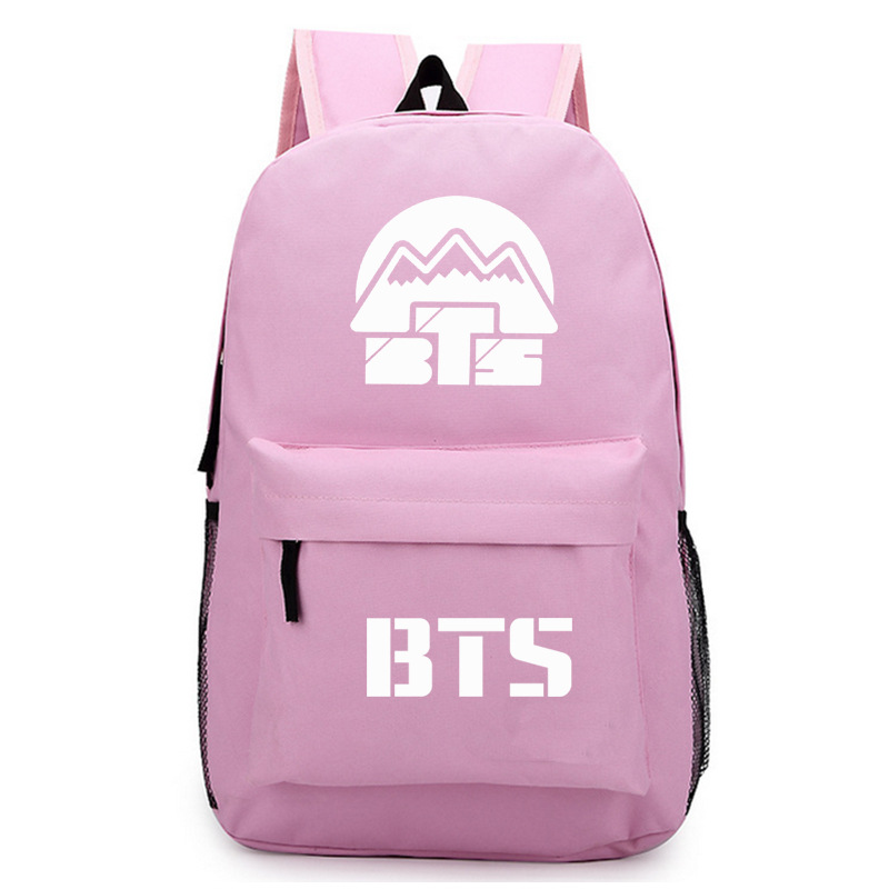 Fashion School Backpack BTS Oxford 2018 New Korean boys Girls Fashion Bags Harajuku Backpack Rucksacks Women Mochila backpack women new backpack girl korean fashion oxford cloth soft leather back black bags