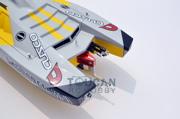 G30K ARTR Fiberglass RC Racing Boat 30CC Engine Water Cooling Sys Exhaust' Sys Yellow TH02705 5