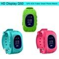 Inteligente relógio bebê q50 Anti Perdido Pulseira GPS Tracker Telefone Inteligente crianças sos gsm smartwatch tem app para iphone ios & android relógio