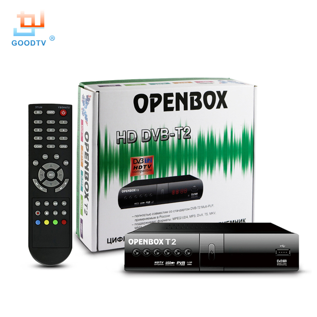 Digital DVB T2 Receptor de TV OPENBOX HD Set-top Box de Televisión MPEG-4 USB DVB-T2 Set Top box Caja de la TV Inteligente Pantalla LED GOODTV