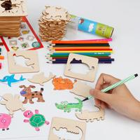 MWZ Children's Painting Learning Tools Graffiti Coloring Painting Template Set