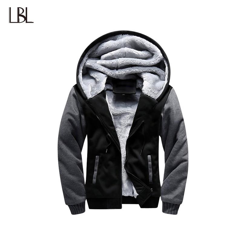 Chaqueta Bomber gruesa de invierno para hombre chaqueta con capucha para hombre ropa deportiva masculina chaqueta de hombre abrigada con capucha polar 2018 talla US 4XL