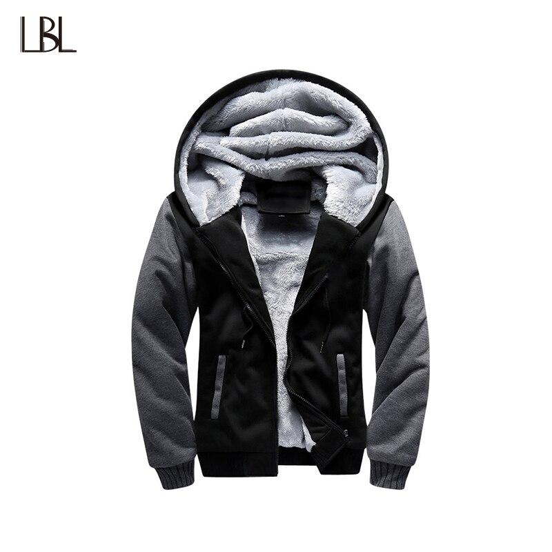 Winter Dicke Bomber Jacke Männer Hoody Jacke Männer jaqueta masculina Sportswear Männlichen Männer der Warme hoodie Fleece Mantel 2018 UNS größe 4XL
