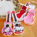 10pcs New hello kitty contact lenses box for women plastic Guitar cute contact lens case for eyes eyewear accessories container