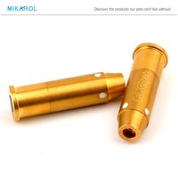 38Spec Training Bore Laser Sight Scope Hunting Rifle Scope, 100% Brass and Gold Plated Red Laser Sight Cartridge Bullet