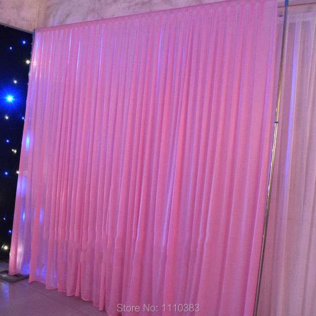 3x3m pink wedding backdrop curtain wedding drapes stage backdrop for event party hotel background decoration