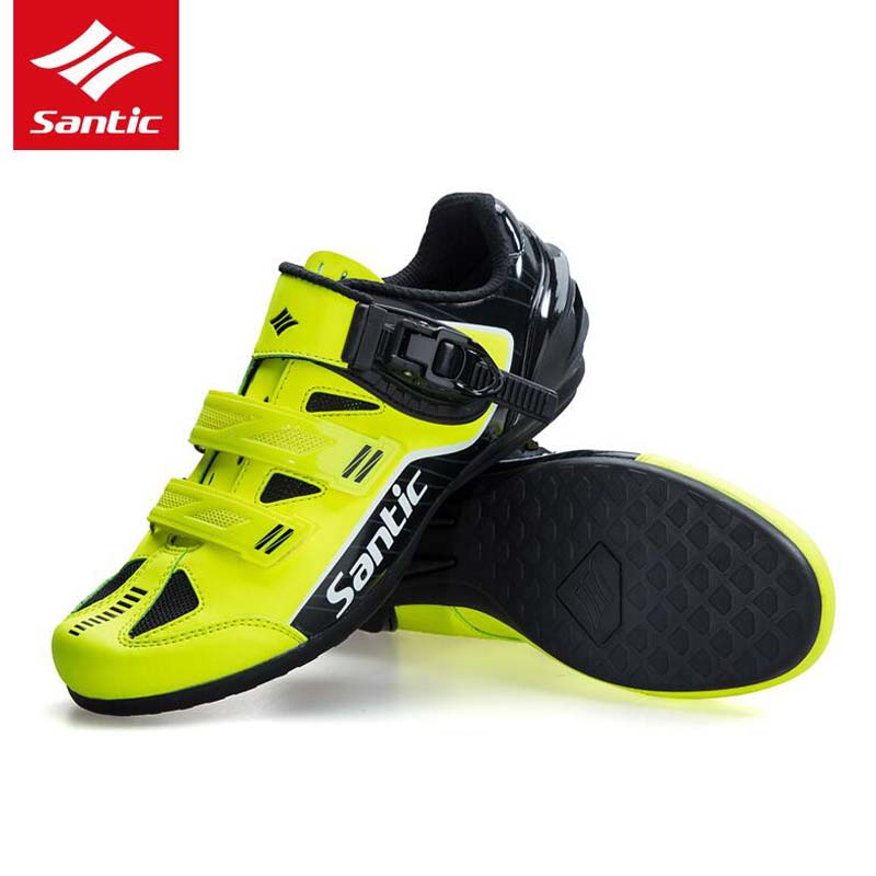 Santic 2018 New Bicycle Shoes Sneaker Breathable Outdoor Sport Professional Road Bicycle Shoes Non Slip No Lock Bike Shoes