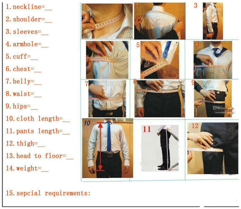 Traje de hombre de un botón de moda 2017 esmoquin gris para novio trajes de boda para hombre Prom novio (chaqueta + Pantalones + chaleco + corbata) - 3