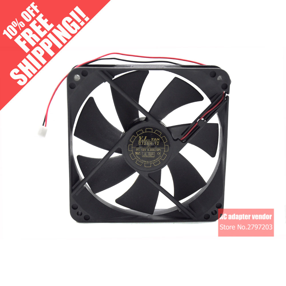 Yate Loon  D12SH-12 D12SM-12 12025 DC 12V 0.30A Cooling Fan