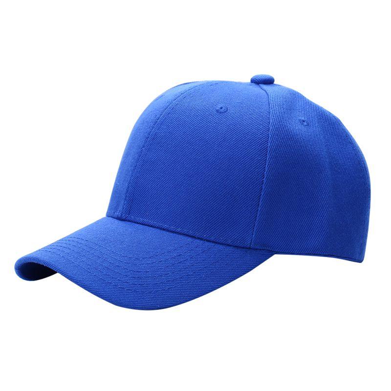 Men Women Plain   Baseball     Cap   Unisex Curved Visor Hat Hip-Hop Adjustable Peaked Hat Visor   Caps   Solid Color LM93