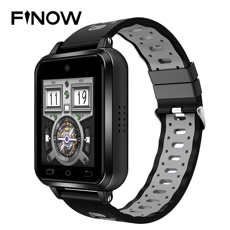 цена 2018 New 4G smart watch Finow Q1 Pro IP67 Waterproof Wifi Wearable Devices 2M camera 1GB/8GB Android 6.0 Heart Rate smartwatch
