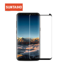 Suntaiho For Samsung S9 Screen Protector S10 A50 A30 Glass For Samsung Galaxy S8 S9 Plus Note9 S7 edge note 8 9H Protective Film(China)