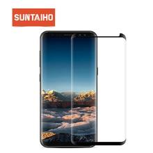 Suntaiho pour Samsung S9 protecteur décran S10 A50 A30 verre pour Samsung Galaxy S8 S9 Plus Note9 S7 bord note 8 9H Film de protection