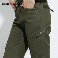 Winter Thicken Fleeced Cotton Pants Women Fashion Velvet Pants Military Plain Army Green Trousers Hiking Climbing Pants Female