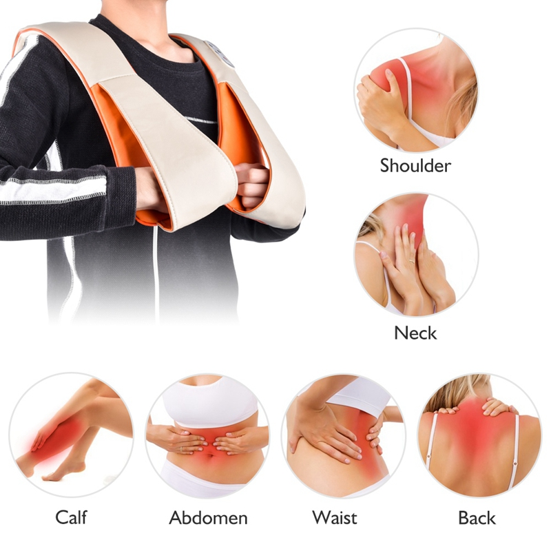 Electrical Body Massager Neck Back Shoulder Massage Pain Relief Relaxation Knock Therapy Cervical Knocking Shawl Health Care