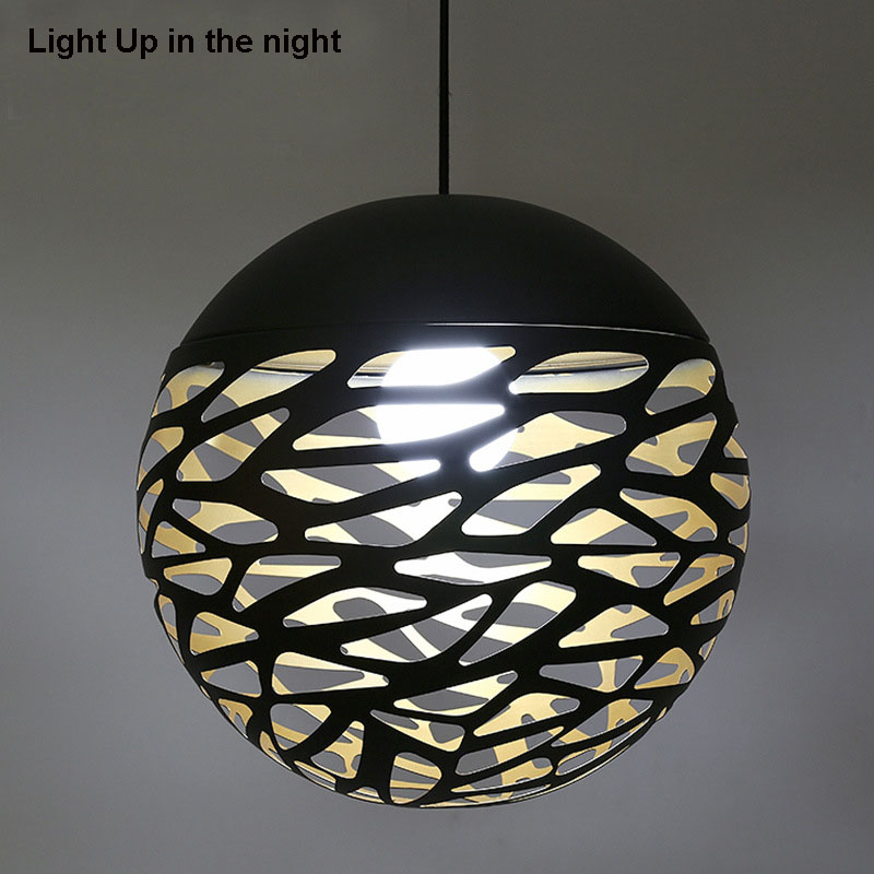 Modern Pendant Lamp Metal Pendant Light Globle Lamp With E27 Holder, Cut Out Style, New Style for Living Room, Free Shipping new arrival modern chinese style bamboo wool lamps rustic bamboo pendant light 3015 free shipping
