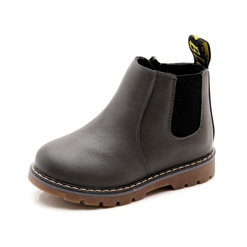 Botas de nieve para niños 2018 otoño grueso algodón Zapatos niños niñas impermeable antideslizante Martin botines niños botas de cuero