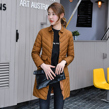 Фотография Autumn Winter Warm Thin Duck Down Winter Jacket Women Hood Long Down Coat Down Parka European Style Coats Plus Size