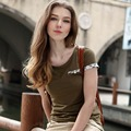 Veri Gude Summer Style T-Shirt mujeres camiseta de algodón Tops