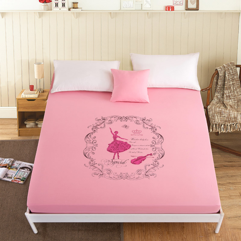 Simple fashion style polyester mattress cover Stretch Mattress Protector Covers Soft Mattress Pad 9 Colors CD-05