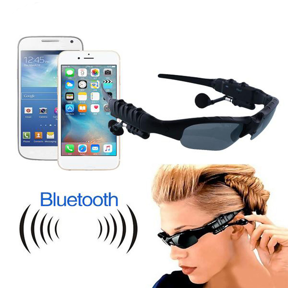 Wireless earbuds Earphones Stereo Handfree Bluetooth headphones Sunglasses Earpieces Eyes Glasses Headsets for iphone 5/5s/6/6s