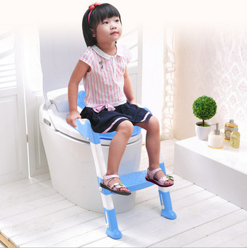 New Baby Toddler Potty Toilet Trainer Safety Seat Chair Step with Adjustable Ladder Infant Toilet Training Non-slip Folding Seat cartoon baby boy girls folding toddler potty toilet trainer saf