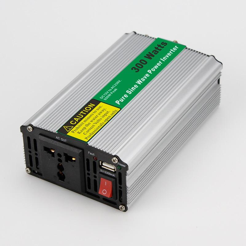 MAYLAR@ 300W Car Power Inverter Converter DC 24V to AC 110V or 220V Pure Sine Wave Power Solar inverters mini size real power maylar 22 60vdc 300w dc to ac solar grid tie power inverter output 90 260vac 50hz 60hz