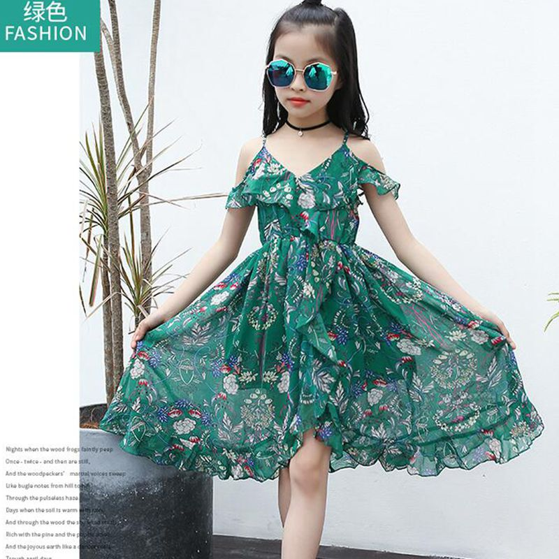 ce69a617 Girls Dress Summer 2017 Bohemian Print Beach Wear Strap Baby Dress Children  Kids Dresses For Girls Clothes 3 12 Years JW1786A-in Dresses from Mother &  Kids ...