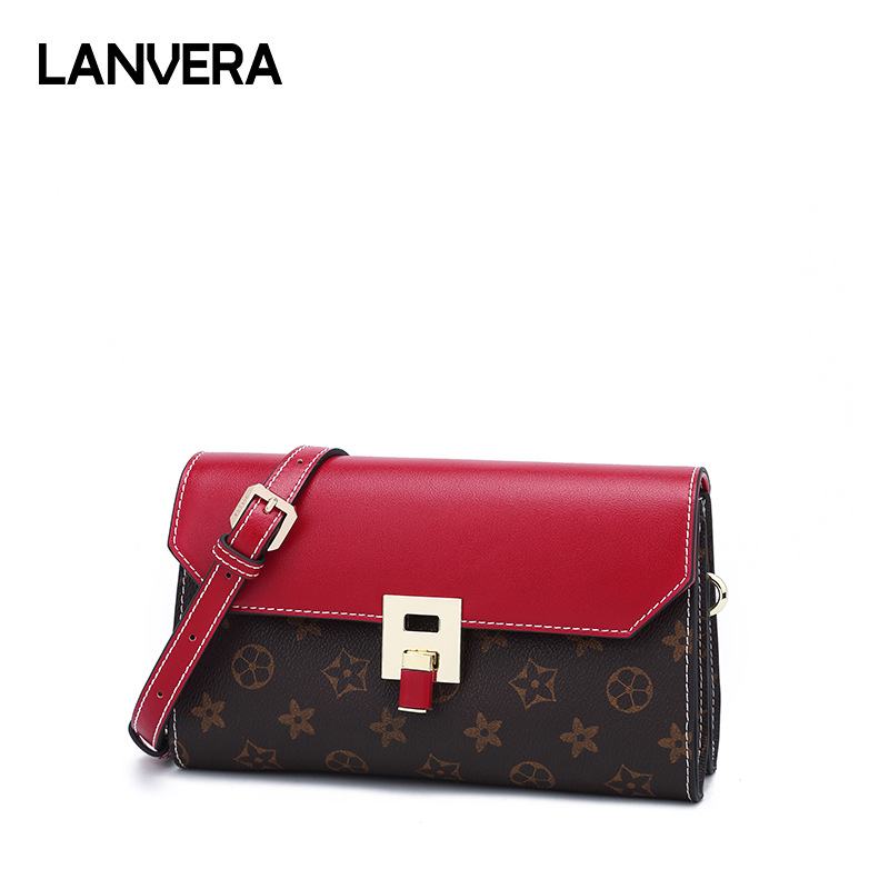купить Women Bag 2018 Lock Printing Famous Women Designer Shoulder Bag Crossbody Small Square Ladies Messenger Bag по цене 6410.12 рублей